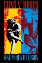 Guns N Roses Illusion - plakat muzyczny