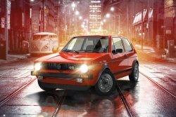 VW Volkswagen Golf GTI - plakat motoryzacyjny