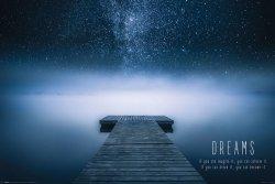 Dreams - plakat z cytatem