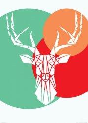 Deer white - plakat B2