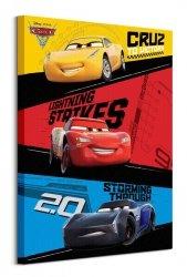 Cars 3 Trio - obraz na płótnie