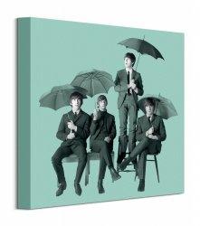 The Beatles Umbrellas - obraz na płótnie