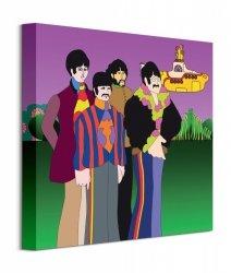 The Beatles Yellow Submarine Band - obraz na płótnie