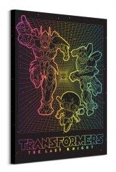 Transformers The Last Knight Retro Grid - obraz na płótnie