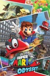 Super Mario Odyssey (Collage) - plakat