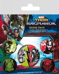Thor Ragnarok - przypinki