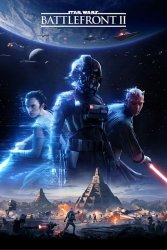 Star Wars Battlefront 2 (Game Cover) - plakat gamingowy