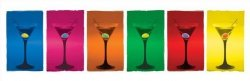 Martini Glasses (Pop Art.) - plakat