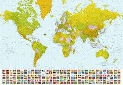 Fototapeta na ścianę - Mapa Świata 2007 - 366x254 cm