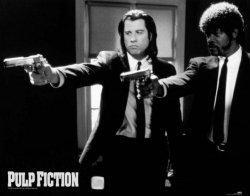 Pulp Fiction (B&W Guns) - plakat