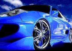 Fototapeta do salonu - Sportowy samochód - 254x183 cm