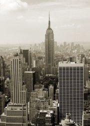 Fototapeta na ścianę - Manhattan panorama w sepii - 183x254 cm