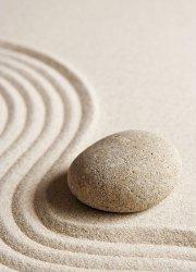 Fototapeta - Kamień na piasku - 183x254 cm
