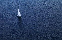 Fototapeta na ścianę - Samotny Jacht - 175x115 cm