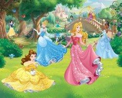 Fototapeta dla dzieci - Disney Princess - 3D - Walltastic - 243,8x304,8 cm