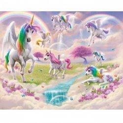 Fototapeta dla Dziewczynki - Unicorn - Jednorożce 3D