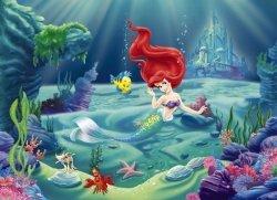 Fototapeta dla dzieci - Mała Syrenka, Arielka Disney - 258x184cm