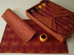 Podkładki na stół + Serwetki + Obrączki na serwetki x 6-szt- Bordo