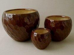 Doniczki ceramiczne -  D36xH28cm 3szt.