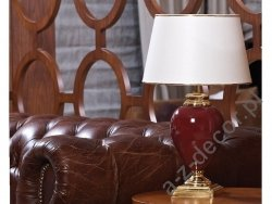 Lampa stołowa - SANSSOUCI - Rubinowa - 30x51cm