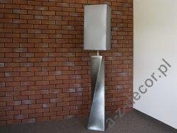 Lampa podłogowa - Srebrna - TWISS -30x168cm