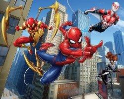 Fototapeta dla dzieci - 3D - Spiderman Team - Walltastic