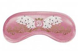 Opaska na Oczy - Wzór Swarovski Wings pink
