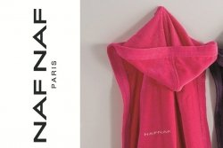 Szlafrok - Różowy - XL - 100% Bawełny - NAF NAF