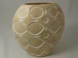 Wazon ceramiczny - Złoty Piasek - 27x16x27cm