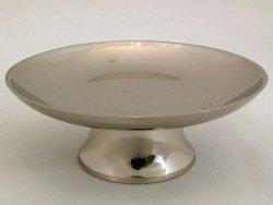 Świecznik metalowy - 11x5x4cm - Mosiądz niklowany