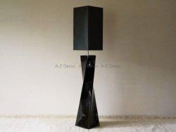 Lampa podłogowa - Czarna - TWISS - 30x168cm
