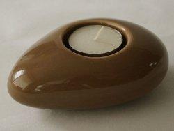 Świecznik - Cappuccino - Ceramika - 12cm