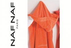 Pomarańczowy Szlafrok - M - NAF NAF - 100% Bawełna