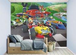 Fototapeta dla dzieci - Myszka Miki Racers - 3D - Walltastic - 244x305 cm