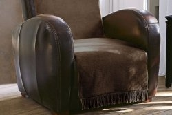 Koc na fotel - 100x200 cm - Czekolada