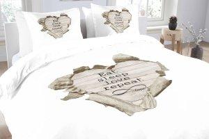 DUPLIKAT: DUPLIKAT: Pościel bawełniana -  Essara Love Repeat - 200x220 cm
