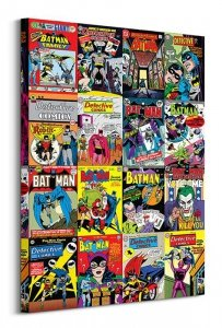 Obraz na płótnie - Batman (Kolaż okładek)