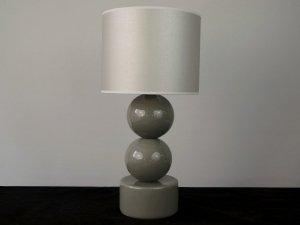 Lampka nocna - Szara - PERLA II - 25x51cm