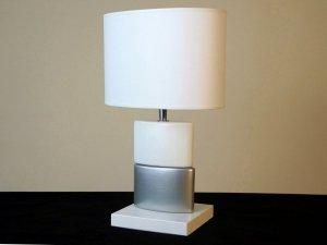 Lampka nocna - Srebrna - CHANEA Petit - 25x15x40cm