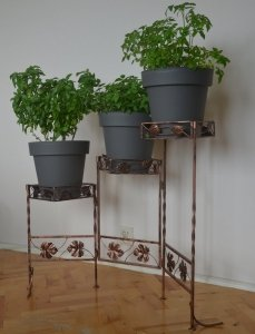 Stojak na kwiaty - Kwietnik metalowy - Parawan na 3 Doniczki