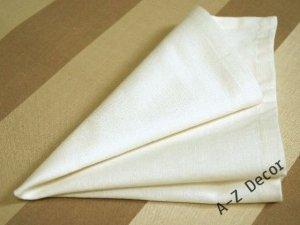 Serwetki na stół - Kremowa biel - 40x40cm - 4szt/op