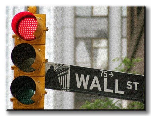 New York, Wallstreet, Stock Exchange - Obraz na płótnie