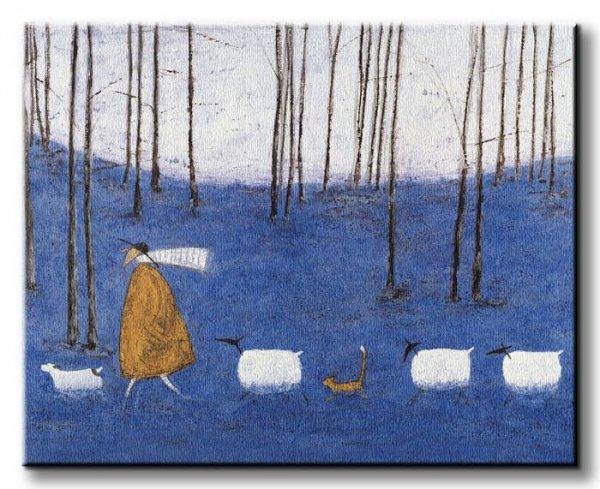 Tiptoe Through The Bluebells - Obraz na płótnie