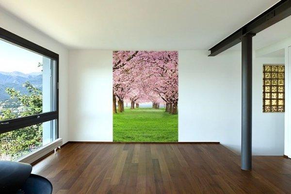 Fototapeta do sypialni - Kwitnące drzewa - 183x254cm