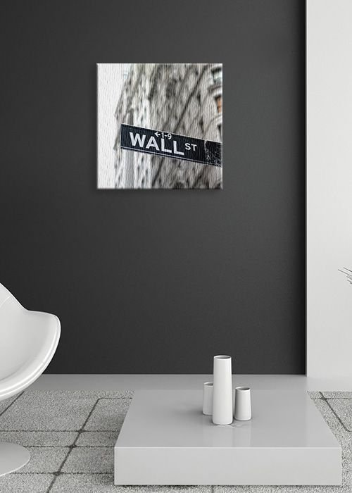 Obraz na płótnie - Wall Street, znak - 40x40 cm