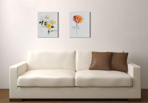 Orange Rose - Obraz na płótnie