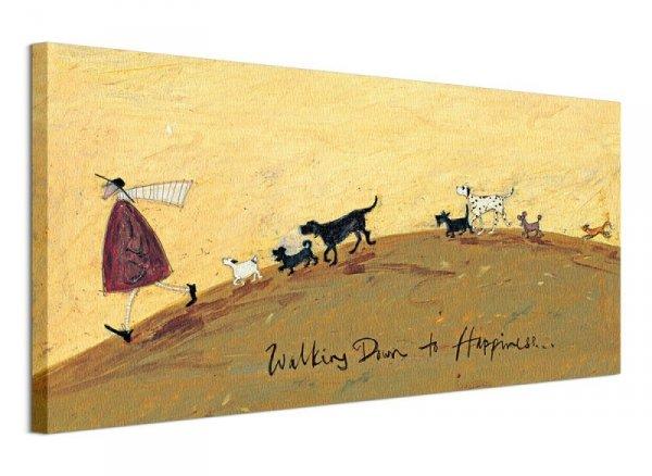 Obraz na płótnie - Walking Down To Happiness - 100x50 cm