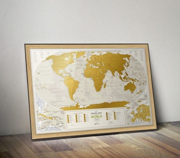 Geography World - Mapa zdrapka