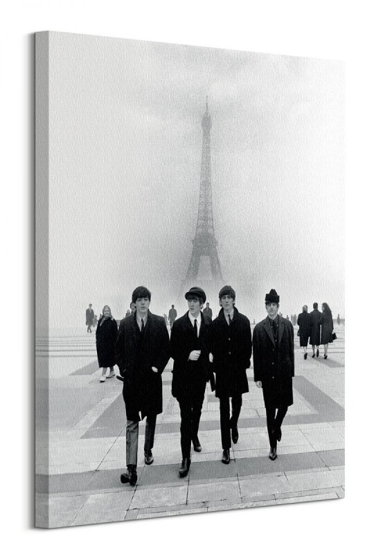 The Beatles Paris - obraz na płótnie