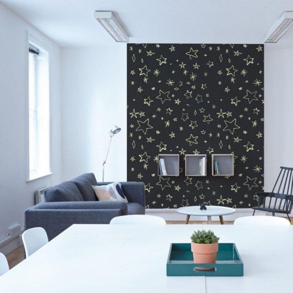 Fototapeta ścienna - Żółte gwiazdki - 183x254 cm - Dekoracje na ścianę - Sklep DecoArt24.pl